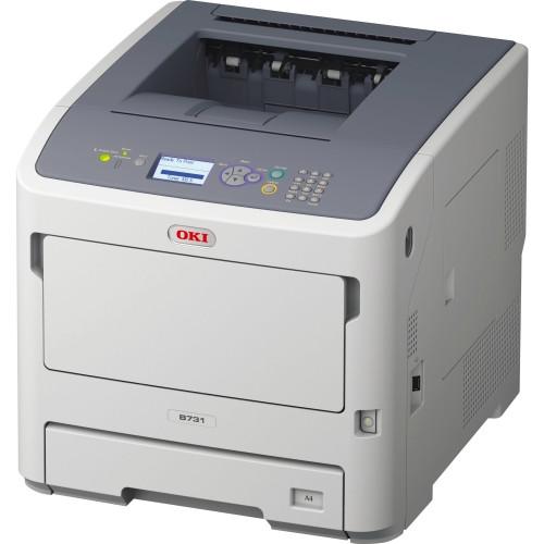 Oki B700 B731DNW LED Printer - Monochrome - 1200 x 1200 dpi Print - Plain Paper Print - Desktop
