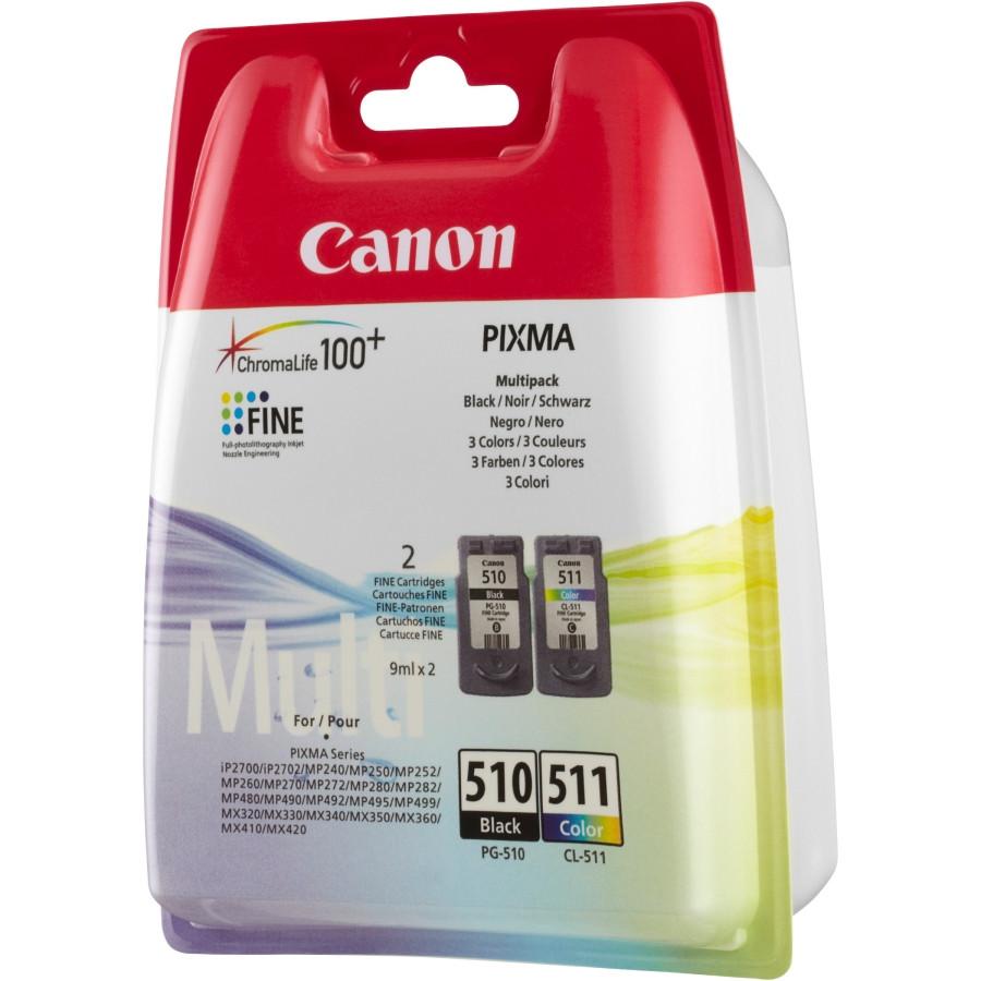 Canon PG-510/CL-511 Ink Cartridge - Black, Cyan, Magenta, Yellow