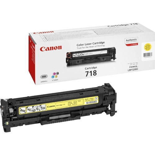 Canon 718 Toner Cartridge - Yellow