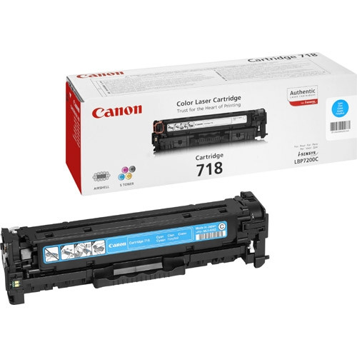 Canon 718 Toner Cartridge - Cyan