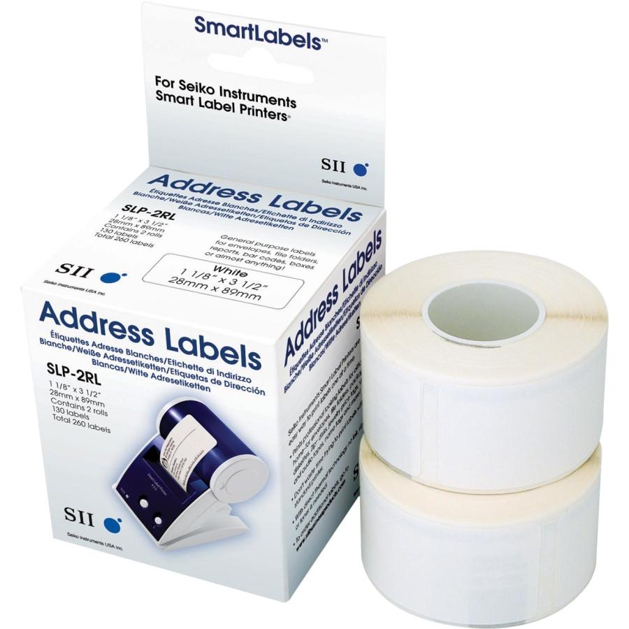 Seiko SLP-2RLH Address Label - 28 mm Width x 89 mm Length - 2 / Box