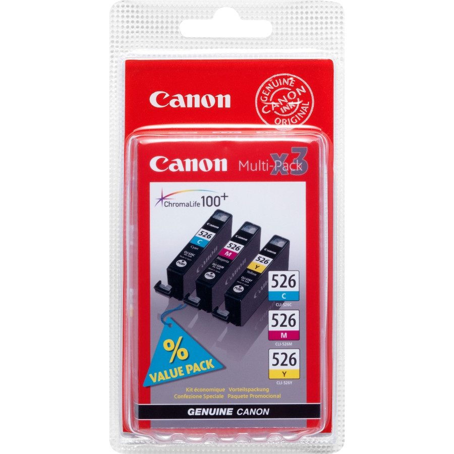 Canon CLI526-CMY Ink Cartridge - Cyan, Magenta, Yellow