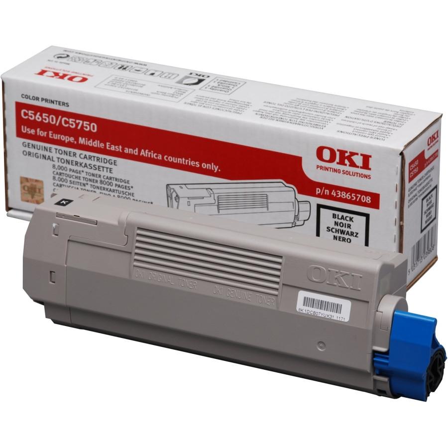 Oki 43865708 Toner Cartridge - Black