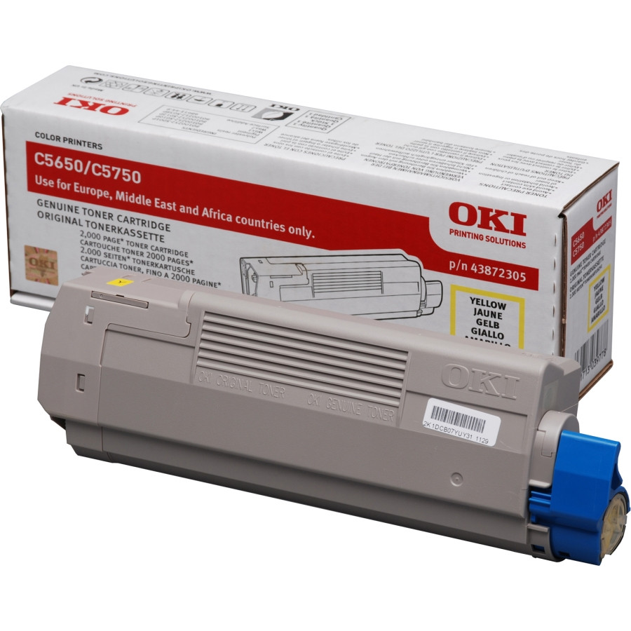 Oki 43872305 Toner Cartridge - Yellow