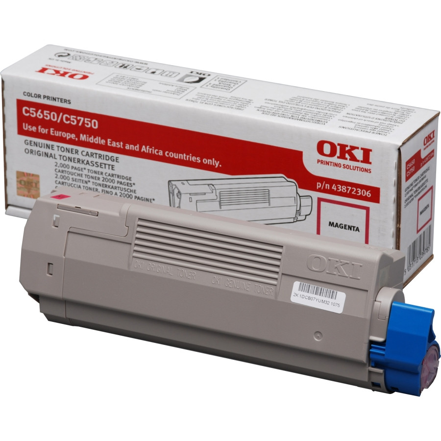 Oki 43872306 Toner Cartridge - Magenta