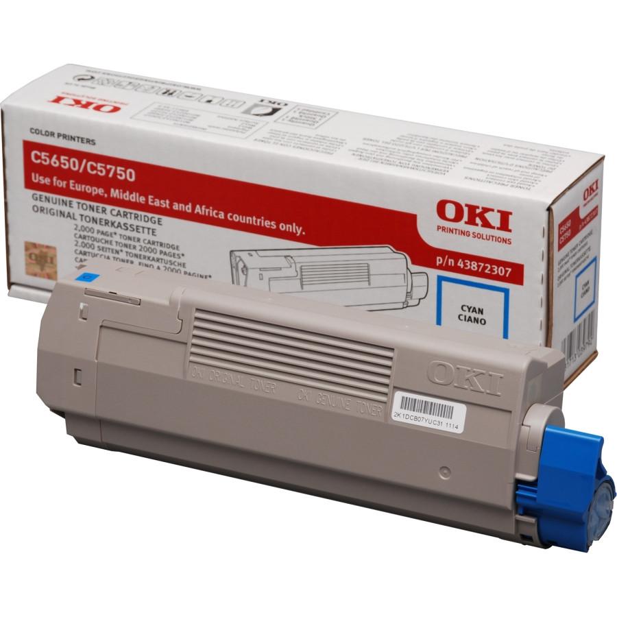 Oki 43872307 Toner Cartridge - Cyan