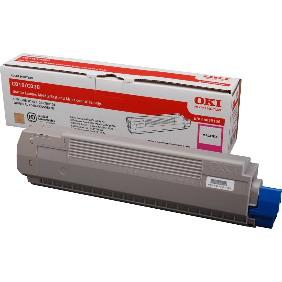 Oki 44059106 Toner Cartridge - Magenta