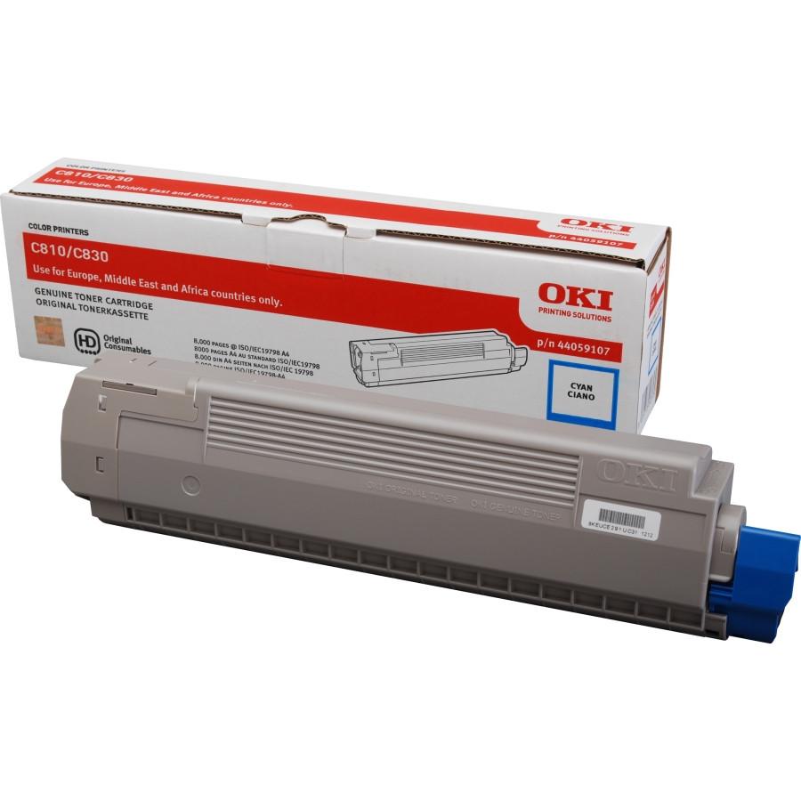 Oki 44059107 Toner Cartridge - Cyan