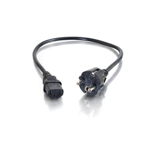 C2G 88543 Standard Power Cord - 2 m Length - IEC 60320 C13 - CEE 7/7