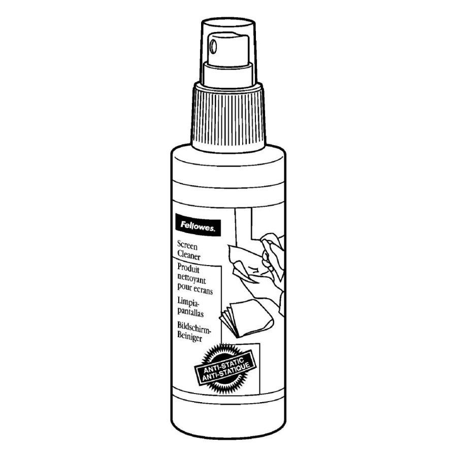 Fellowes Cleaning Wipe & Spray for Display Screen, PDA, Scanner
