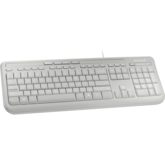 Microsoft 600 Keyboard - Cable Connectivity - White