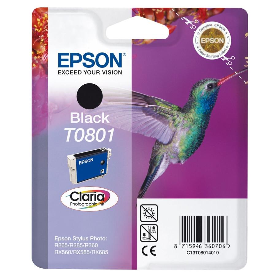 Epson Claria T0801 Ink Cartridge - Black