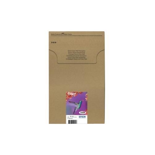 Epson Claria T0807 Ink Cartridge - Black, Magenta, Cyan, Yellow, Light Cyan, Light Magenta