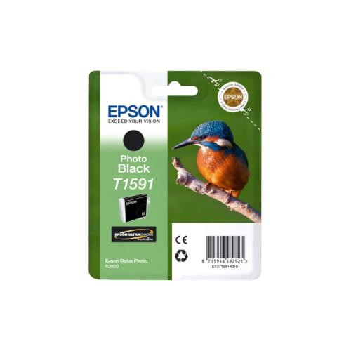 Epson UltraChrome Hi-Gloss2 T1591 Ink Cartridge - Photo Black