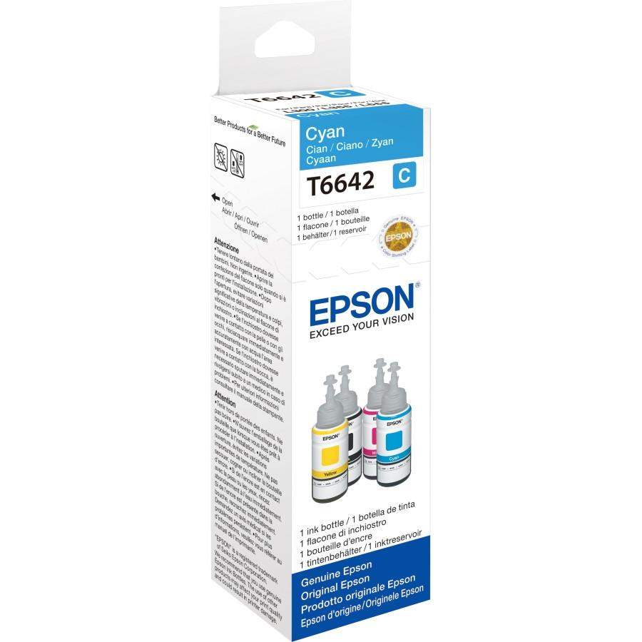Epson T6642 Ink Refill Kit - Cyan - Inkjet
