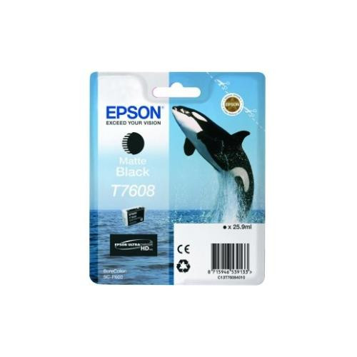 Epson UltraChrome T7608 Ink Cartridge - Matte Black