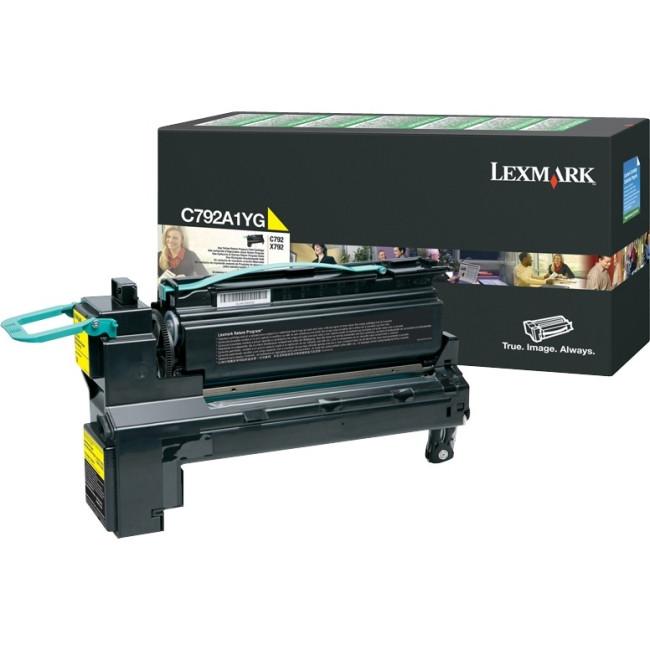 Lexmark C792A1YG Toner Cartridge - Yellow