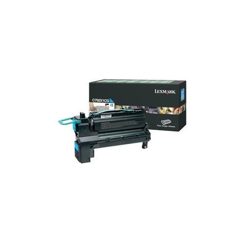Lexmark C792X1CG Toner Cartridge - Cyan