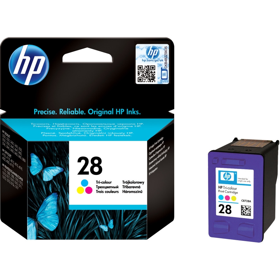 HP 28 Tri-color Original Ink Cartridge (C8728AE)