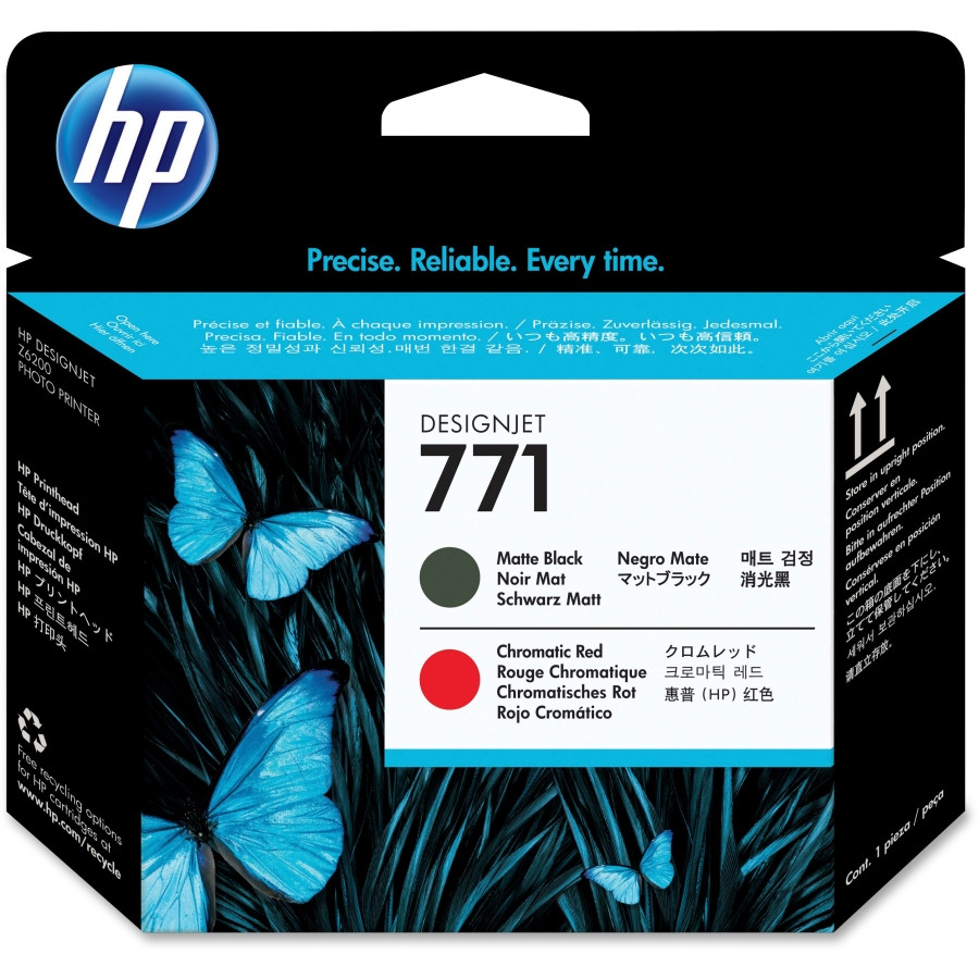 HP 771 Printhead - Matte Black, Red