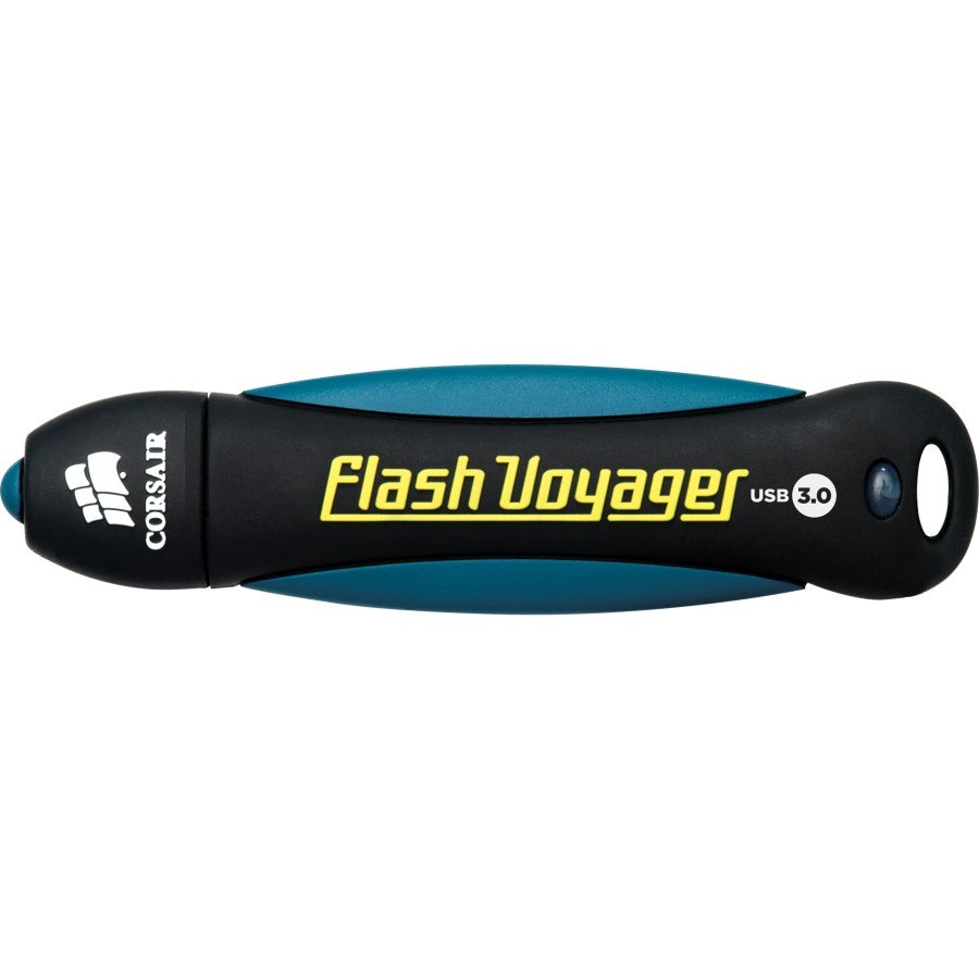 Corsair Flash Voyager 64 GB USB 3.0 Flash Drive - Black, White