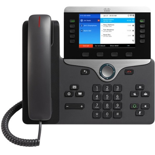 Cisco 8861 IP Phone - Cable - Wall Mountable, Desktop - Black