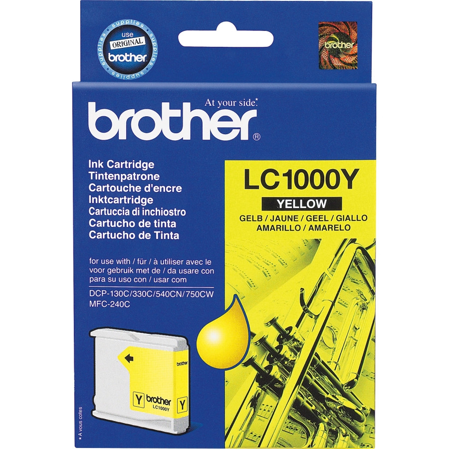 Brother LC1000Y Ink Cartridge - Yellow