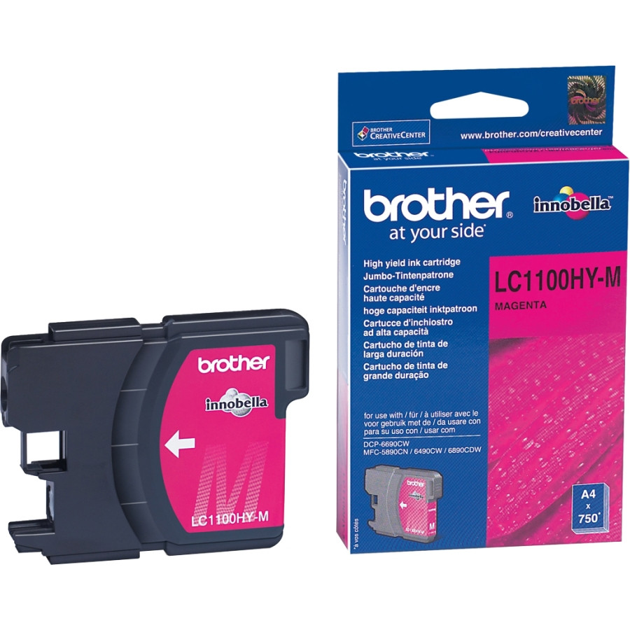 Brother LC-1100HYM Ink Cartridge - Magenta