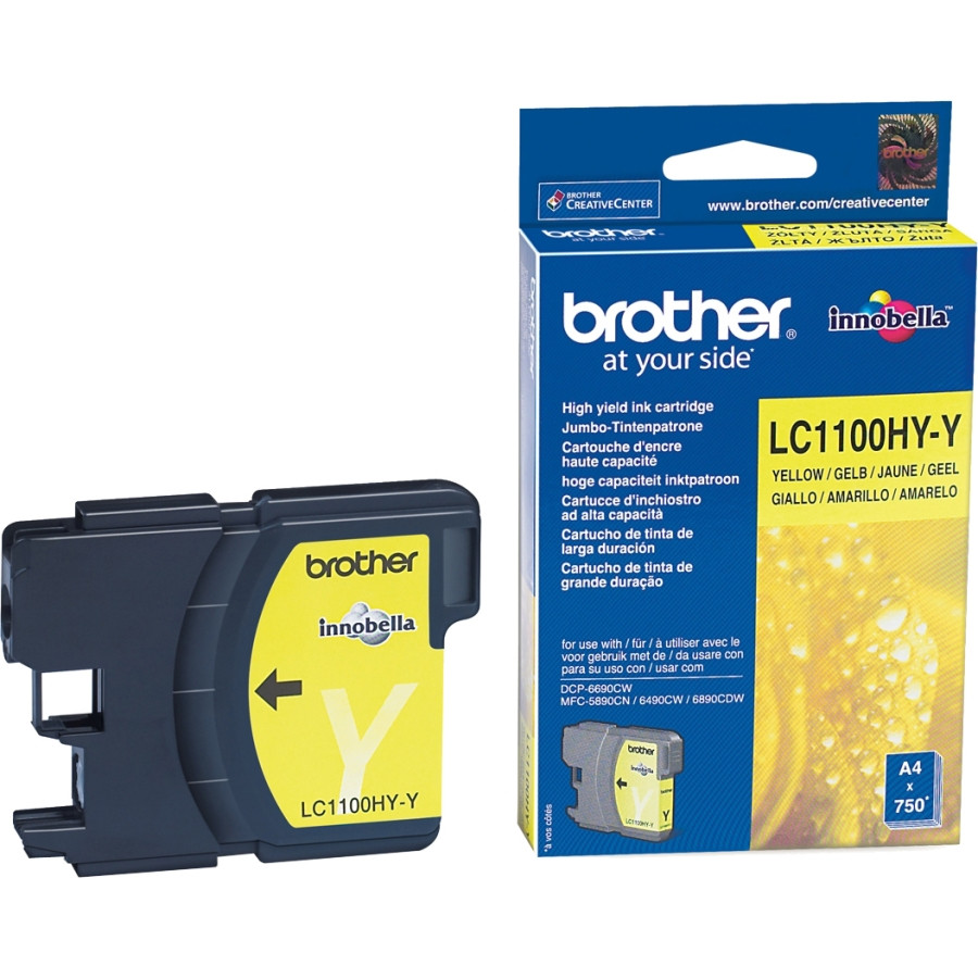 Brother LC-1100HYY Ink Cartridge - Yellow