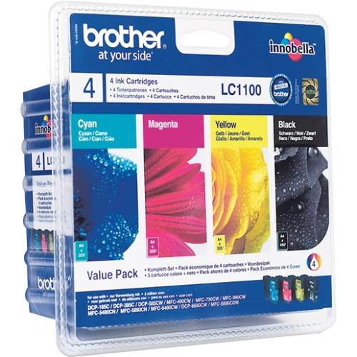 Brother LC-1100 Ink Cartridge - Cyan, Magenta, Yellow, Black