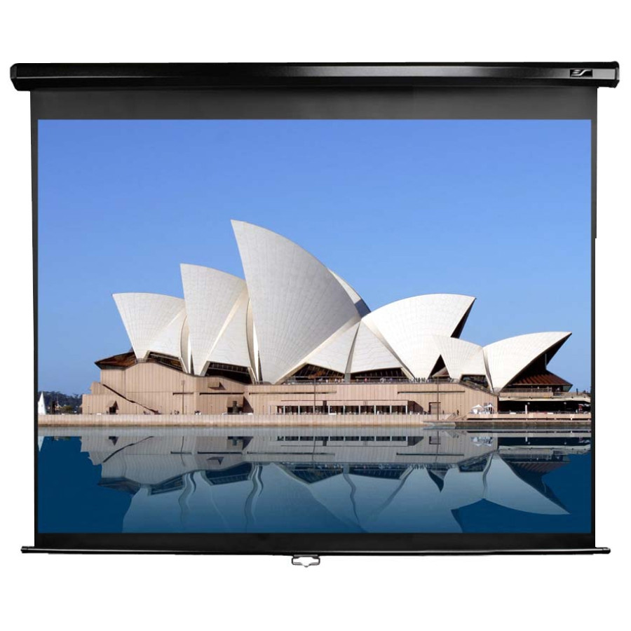 """Elite Screens M100UWH Manual Projection Screen - 254 cm (100"""") - 16:9 - Wall Mount, Ceiling Mount"""
