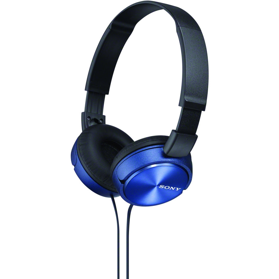 Sony MDR-ZX310APL Wired 30 mm Stereo Headset - Over-the-head - Supra-aural - Blue