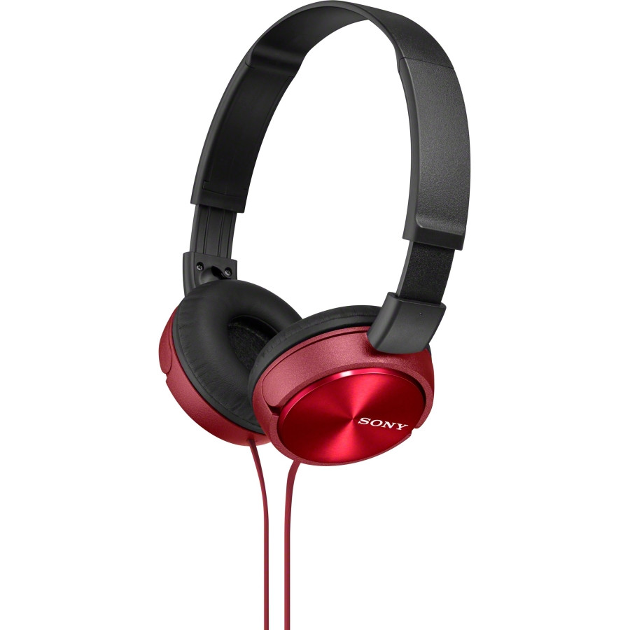 Sony MDR-ZX310APR Wired 30 mm Stereo Headset - Over-the-head - Supra-aural - Red
