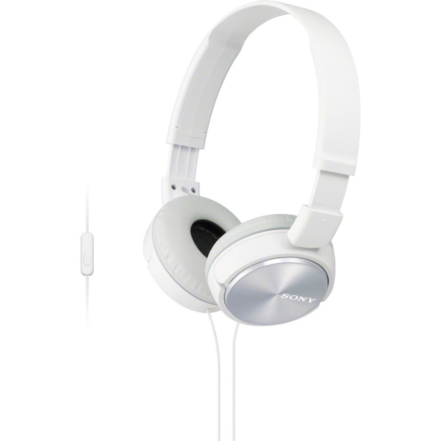 Sony MDR-ZX310APW Wired 30 mm Stereo Headset - Over-the-head - Circumaural - White