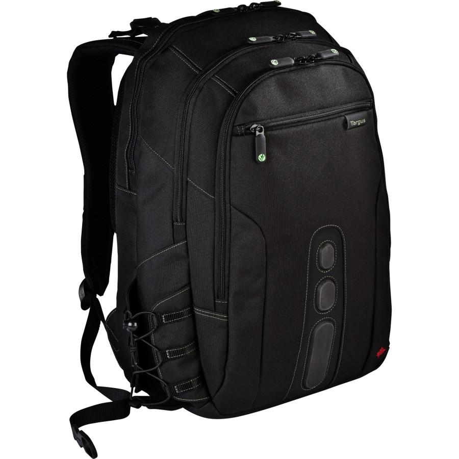 "Targus Spruce EcoSmart TBB013EU Carrying Case (Backpack) for 39.6 cm (15.6"") Notebook - Black, Green"