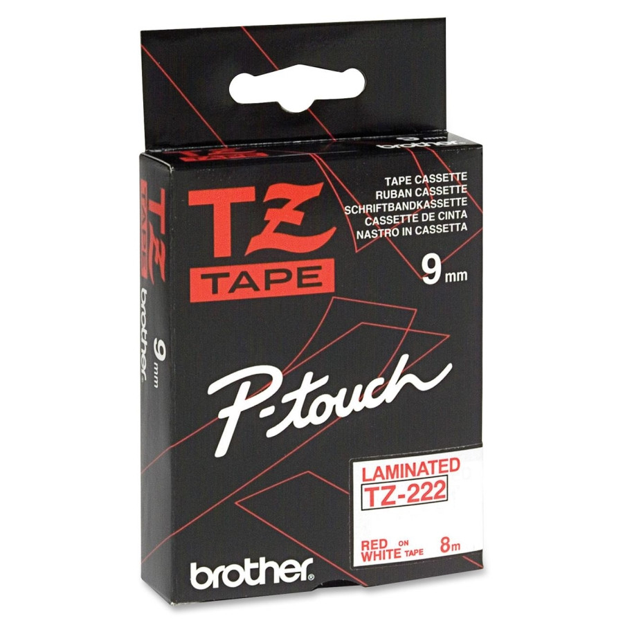 Brother P-touch TZE222 Label Tape - 9 mm Width x 8 m Length