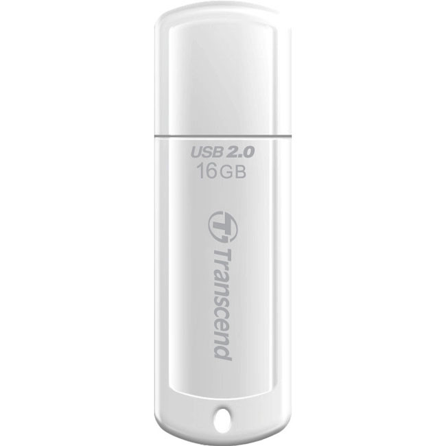Transcend JetFlash 370 16 GB USB 2.0 Flash Drive - White