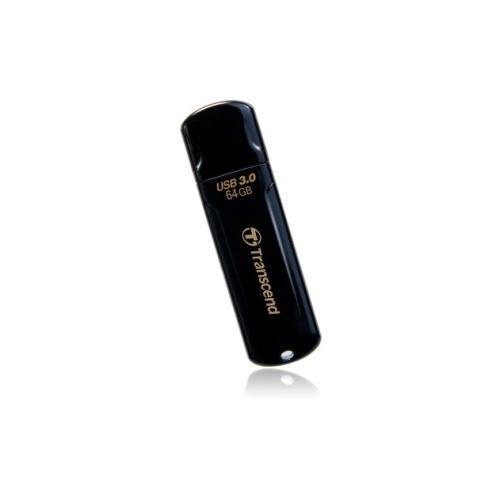 Transcend JetFlash 700 700 64 GB USB 3.0 Flash Drive - Black