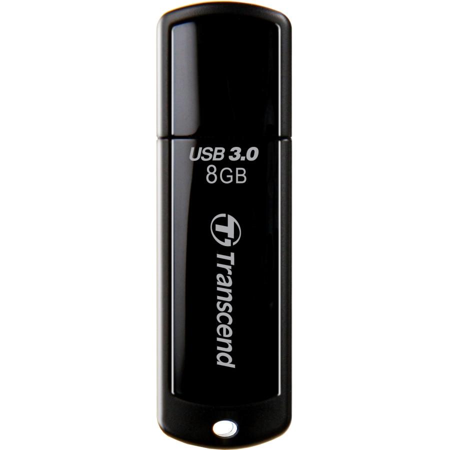 Transcend JetFlash 700 8 GB USB 3.0 Flash Drive - Black