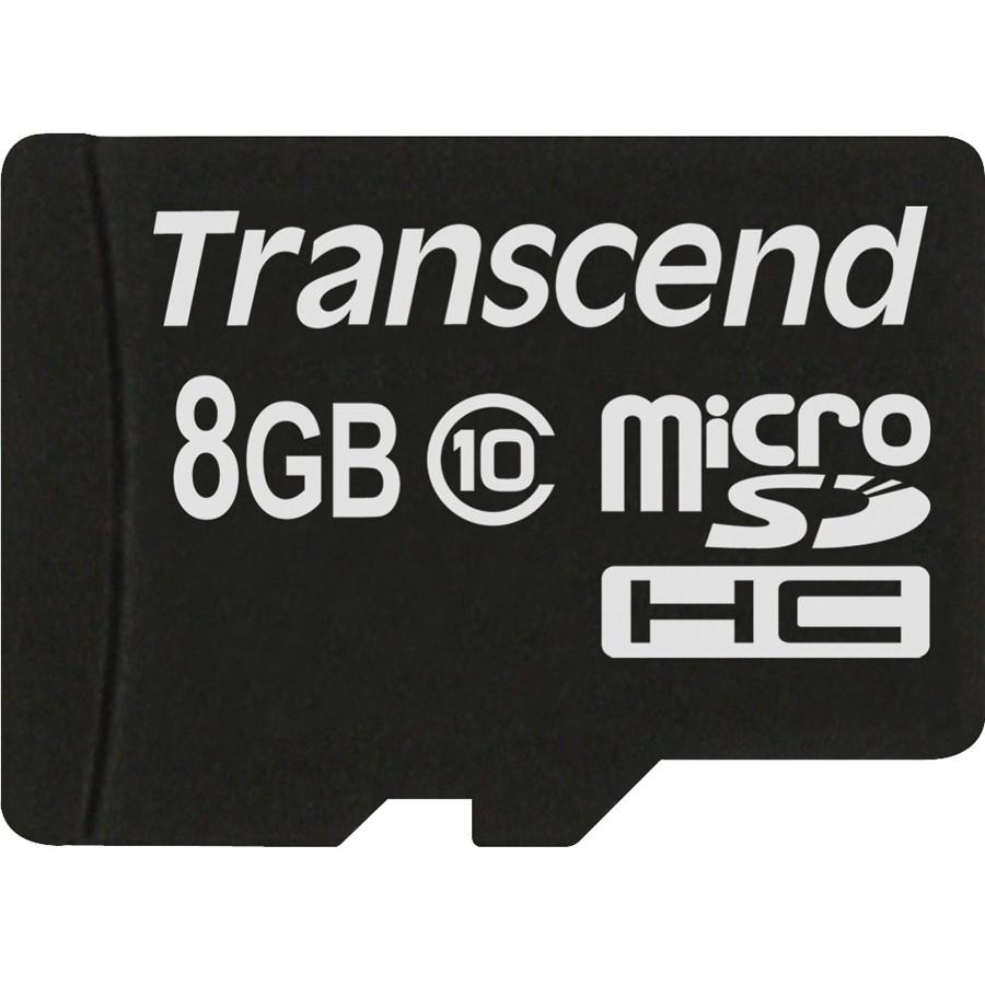 Transcend Premium Flash memory card - 8 GB microSDHC