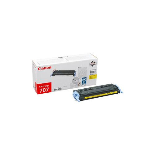 Canon 707Y Toner Cartridge - Yellow