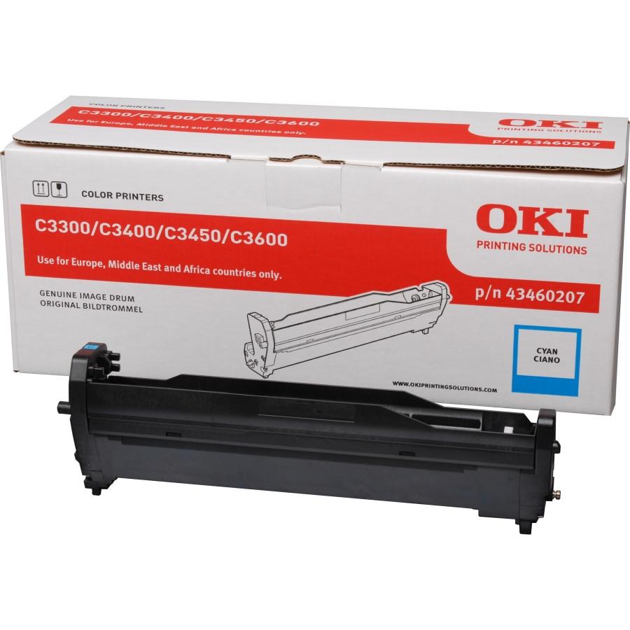 Oki 43460207 LED Imaging Drum - Cyan
