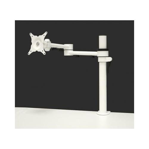 """cms ergo ERG0001W - CMSSINGLEWHITE - Stream single desk mount height adjustable for screens up to 26"""" max weight 20kg - White"""