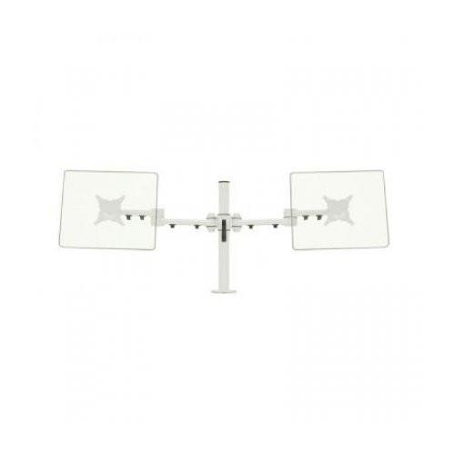"""cms ergo ERG0002W - CMSDUELWHITE - Stream dual desk mount for screens up to 24"""" diagonal max weight 40kg - White"""