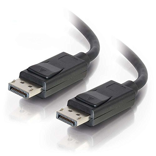 C2G 84401 - 2m DisplayPort Cable with Latches, Male to Male, Black Cable