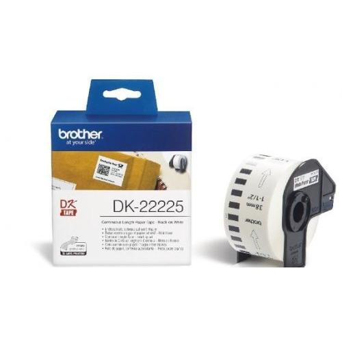 Brother DK22225 Fan-Fold Labels Paper 38mm x 30.48 for QL-550/500/500A/560VP/560/570/580N/650TD/1050/1050N/1060N