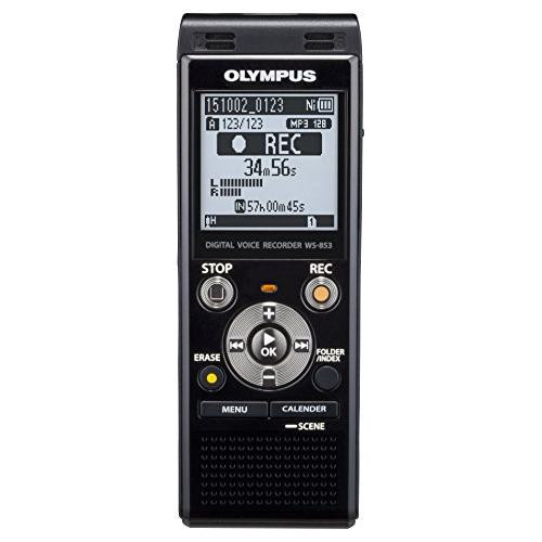 Olympus WS-853 MP3 Digital Stereo Voice Recorder with 8 GB Flash Memory and Built-In USB - Silver