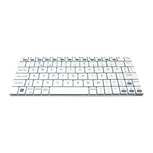 Accuratus KYB-MINIMUS-BTAW Minimus Ultra Mini Sleek Rechargeable Bluetooth Keyboard - White