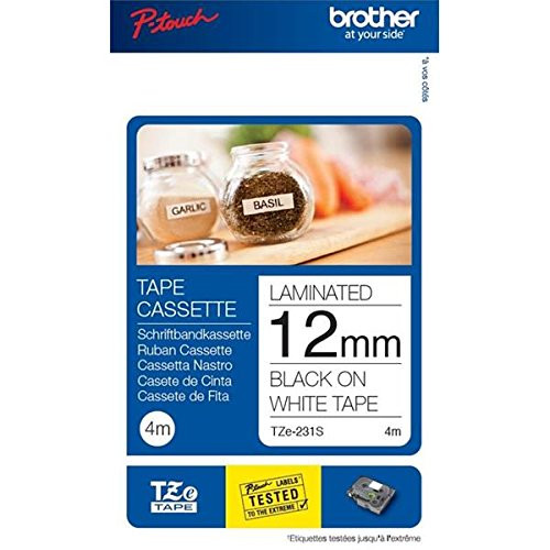 Brother TZE231S 12 mm Label Tapes - White/Black