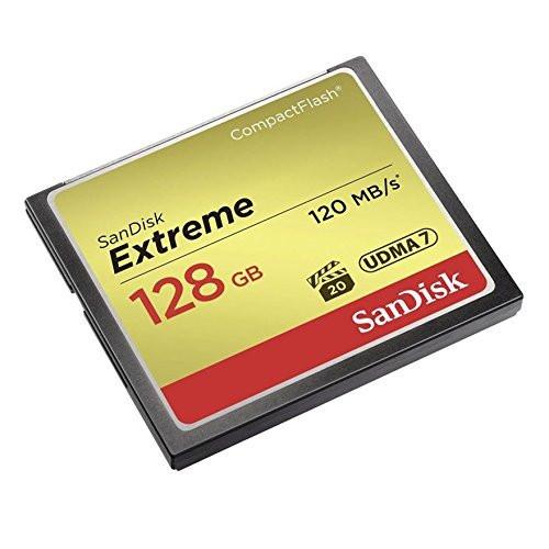 SanDisk Extreme 128 GB UDMA7 CompactFlash Card - Black/Gold